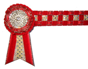 Red Velvet & Gold Browband