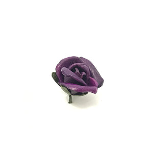 Dark Purple leathere Rosebud