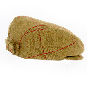 Camel & Red Flat Cap