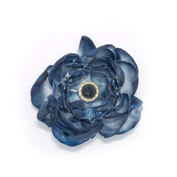 Smokey Blue Flower Trim