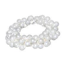 Load image into Gallery viewer, white pearl scrunchy