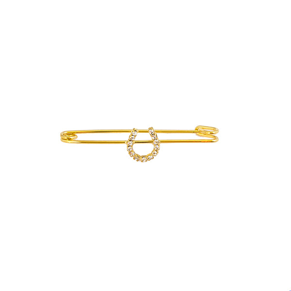Gold Horse Shoe Pin