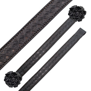 Dark Brown leather Kobe Browband