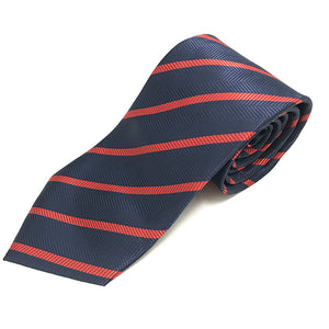 Navy & Red Small Stripe Tie