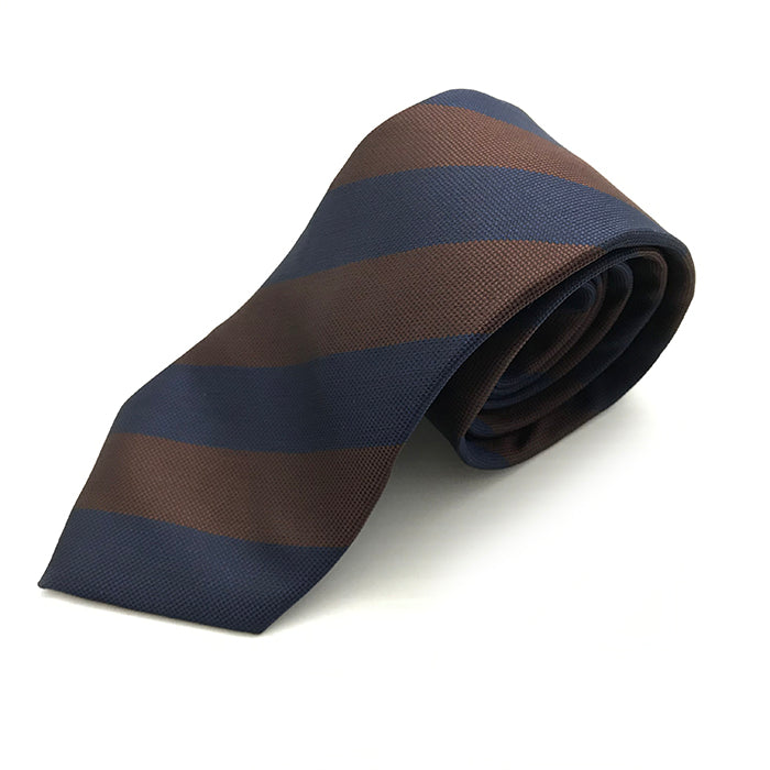 Brown & Navy Stripe Tie