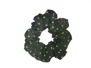 Green & White Scrunchy