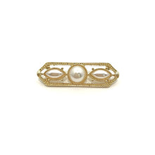Load image into Gallery viewer, Gold Pearl Stock Pin 3