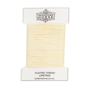 Ivory coloured plaiting thread