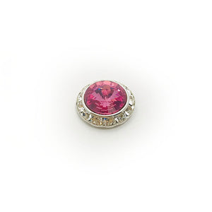 Large Pink Swarovski Pin
