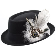 Load image into Gallery viewer, White & Black Feather Trim