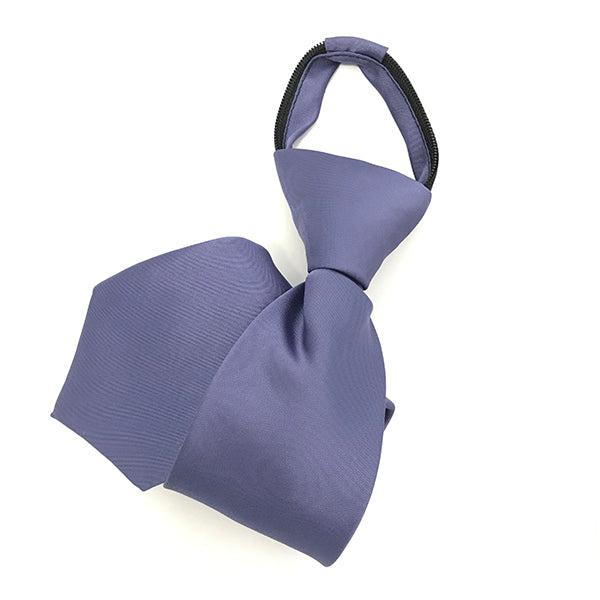 Purple Grey Zipper Tie
