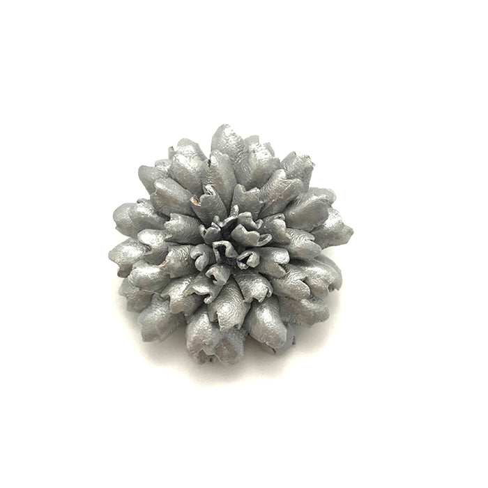 Silver Carnation Lapel