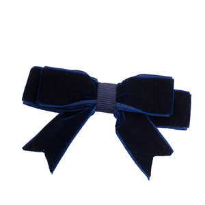 Simple yet stylish, Navy Velvet Hair Bow