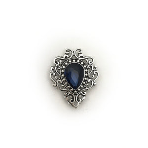 Antique Silver & Navy Pin