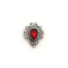 Load image into Gallery viewer, Antique Silver & Red Pin