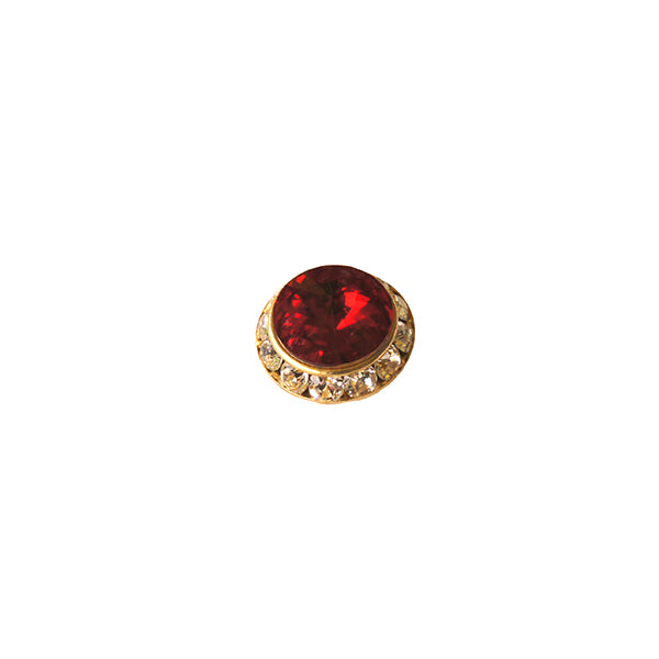 small red swarovski pin