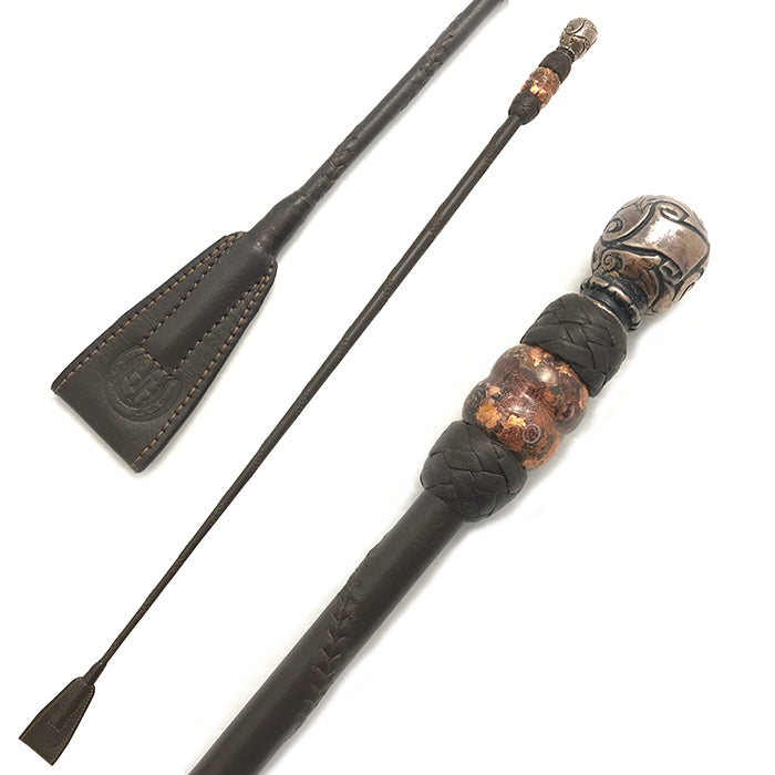 Brown & Copper Riding Crop