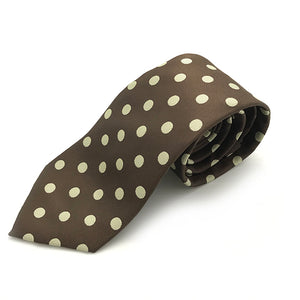 Brown & Cream Spot Tie