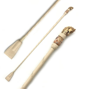 Cream & Rose Gold Riding Crop