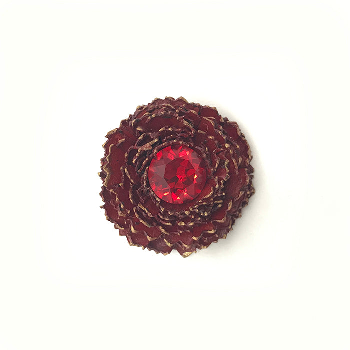 Dark Red & Gold Carnation