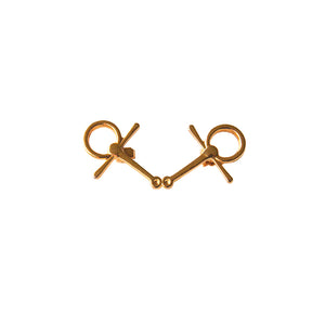 Gold Bent Snaffle Pin