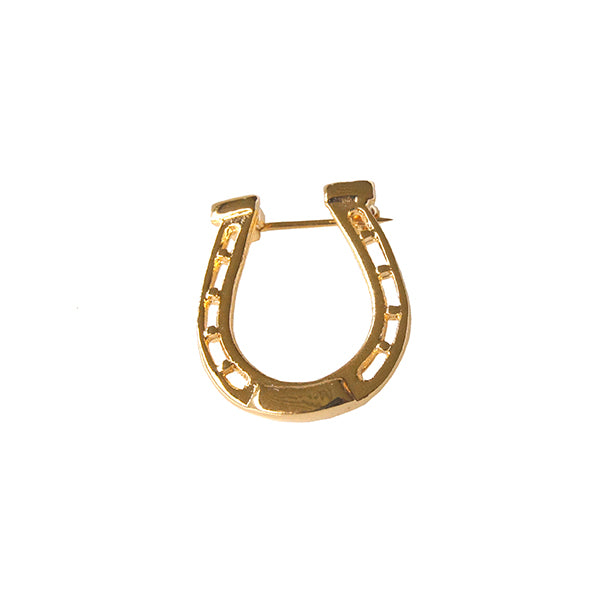 Gold Horseshoe Brooch