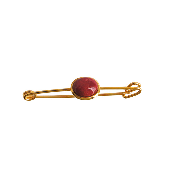 Gold & Red Pin