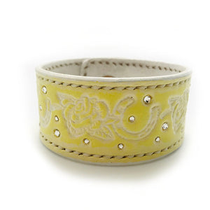 Lemon Leather Bangle