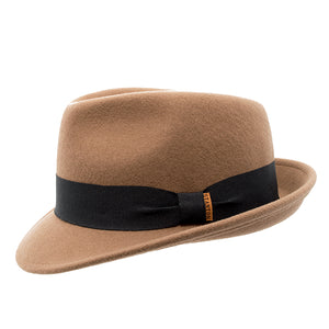 Light Brown Wool Felt Trilby