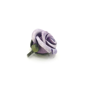 Lilac Leather Rosebud