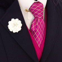 Load image into Gallery viewer, Pink & Gold Tie Scrunchy