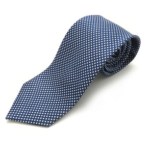 Navy & White Patterned Tie