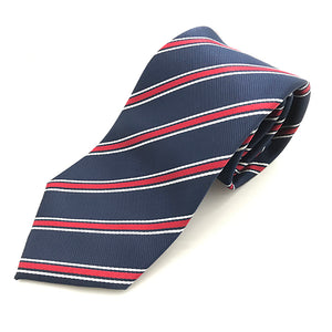 Navy White & Red Stripe Tie