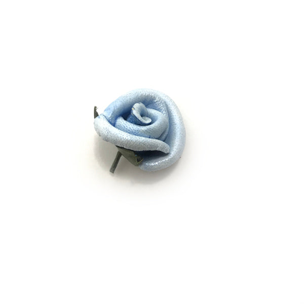 Pale Blue Rosebud Lapel