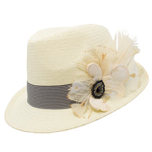 Load image into Gallery viewer, Natural Trilby Striped Band