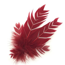Load image into Gallery viewer, Red Feather Trim