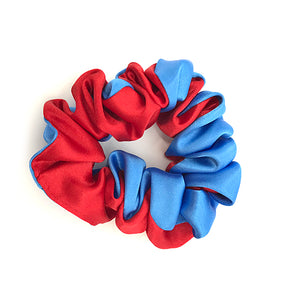 royal and red half half scrunchy 66