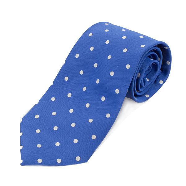 Royal Blue & White Tie