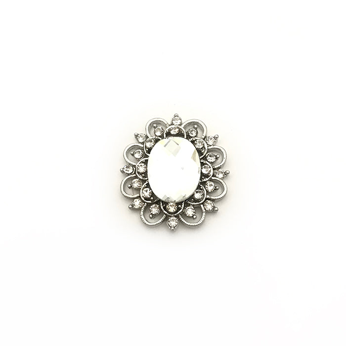 Silver Oval Pin