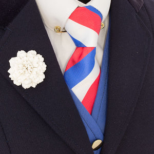 Red, Royal & White Tie