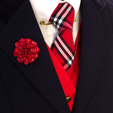 Load image into Gallery viewer, Red Tartan Tie