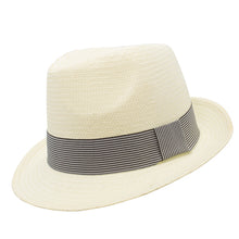 Load image into Gallery viewer, trilby natural with black stripe band