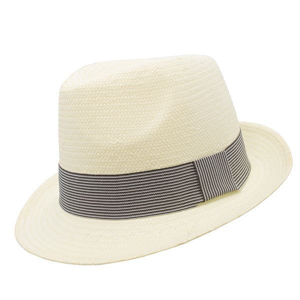 trilby natural with black stripe band