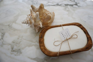 Small wooden dough bowl- Seaside (scent)