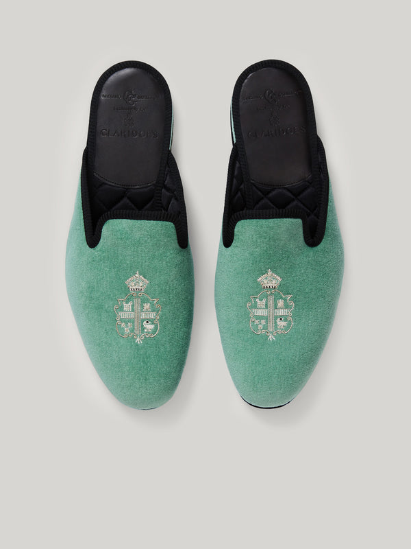 Hand-embroidered Claridge's Female Slippers