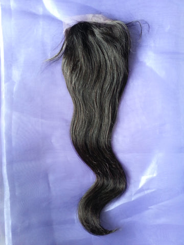 Virgin Hair Silk Base Closure <br> Straight