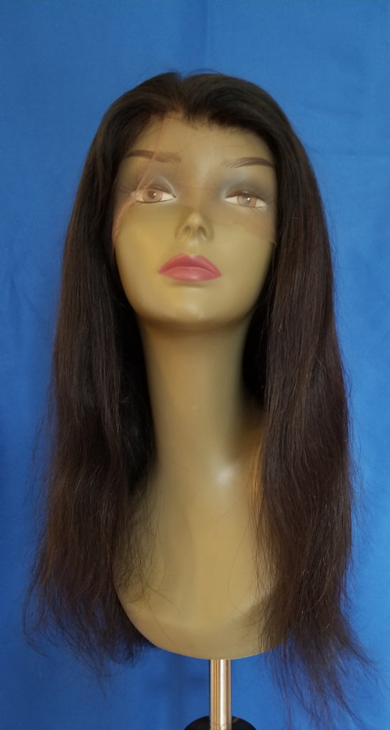 "16"" straight Virgin Indian Full Lace wig"