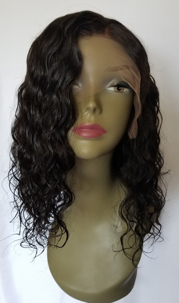 "14"" Virgin Indian Lace Front wig"