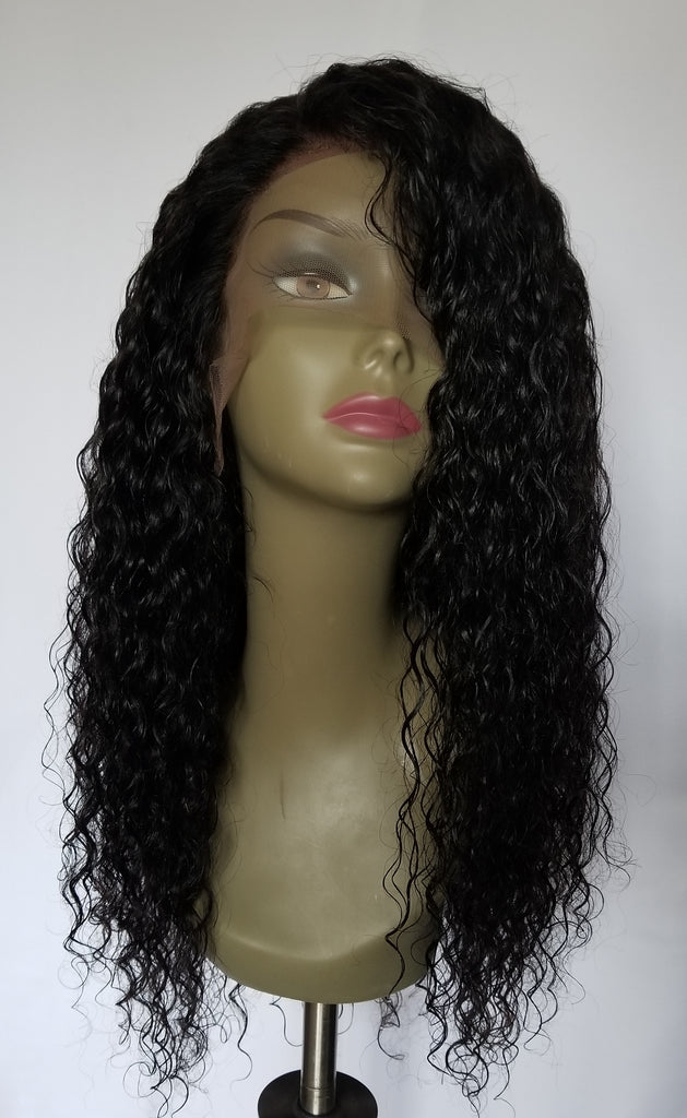 "20"" Wavy Virgin Brazilian Full Lace wig"