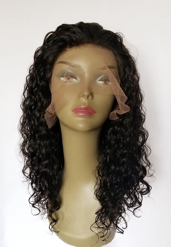 "16"" Virgin Indian Lace Front wig"
